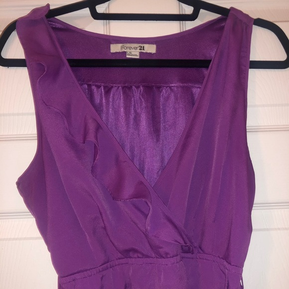 Forever 21 Dresses & Skirts - F21 purple ruffled dress with pockets